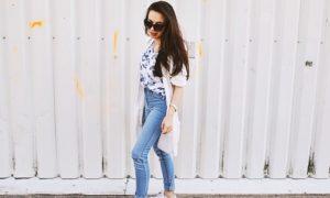 ootd: floral i jeans