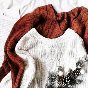 swetry z warkoczami