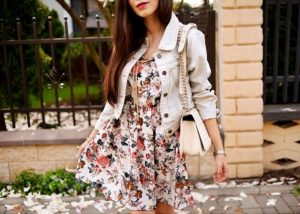 outfit / floral dress